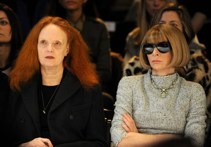 You can get a Grace Coddington-inspired wig for $22.99, and the Anna Wintour bob wig for $17.99. You'll also need big, black sunglasses, which you can get for $16.98.
