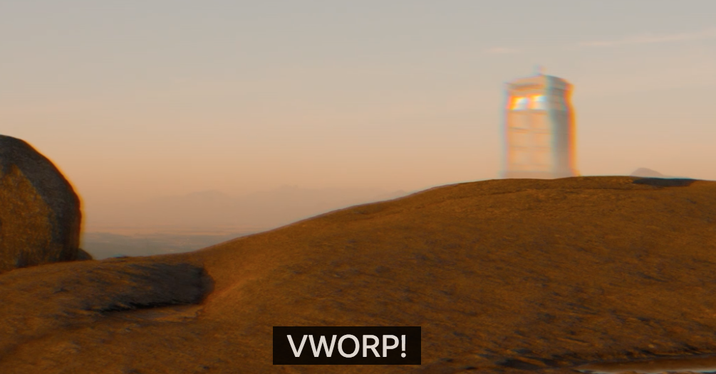The Subtitle For The TARDIS In