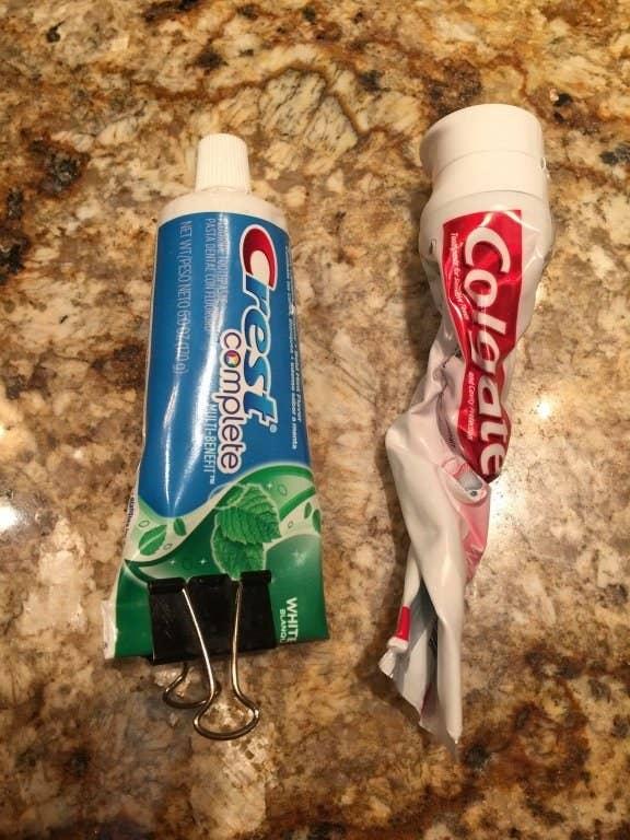 Cada um com seu tubo de pasta de dente!