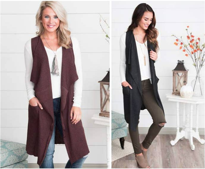 428c03f9912 A long cardigan vest for the days when it s chilly in the morning but  blazing hot by the afternoon.