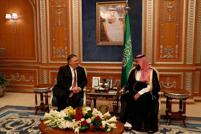 Pompeo met with Crown Prince Mohammed bin Salman in Riyadh, Saudi Arabia, on Tuesday.
