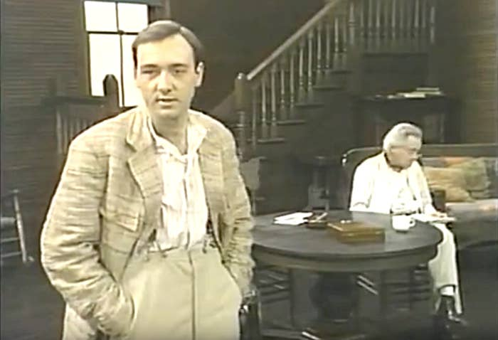 Kevin Spacey in the staged-for-TV production of Long Day's Journey Into Night in 1987, around the time Rapp says he made an unwanted sexual advance.
