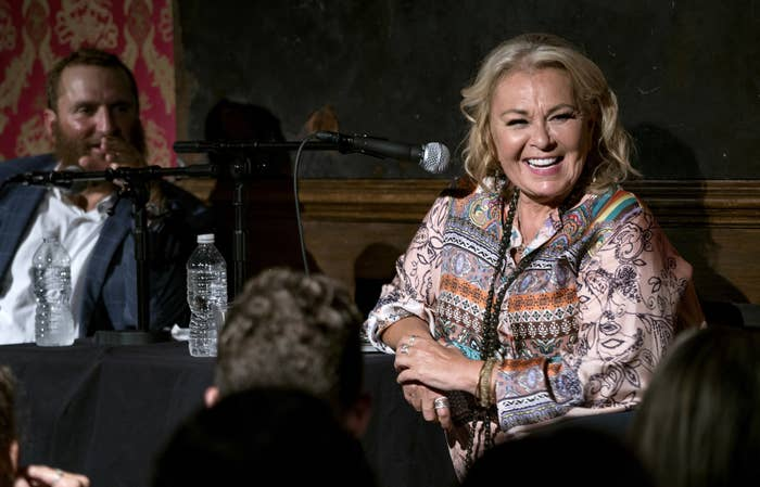 Roseanne Barr takes part in a special event and podcast taping with Rabbi Shmuley Boteach.