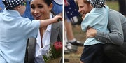 Just Try And Watch This Little Boy Rubbing Prince Harry's Beard And Hugging Meghan Without Crying
