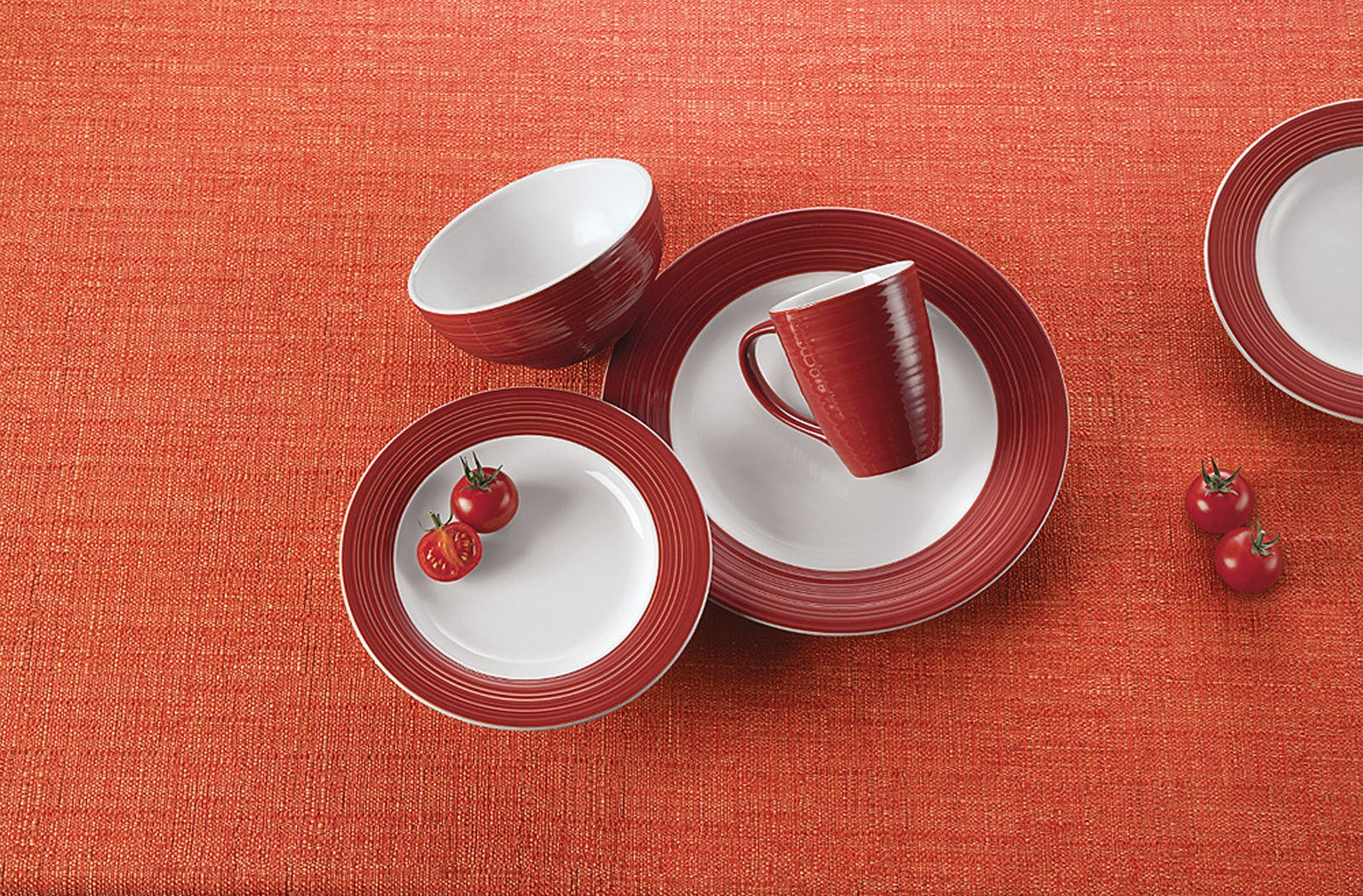 Set includes four dinner plates, four salad plates, four salad bowls, and four mugs.Price: $38.88 ($10.39 off the list price)