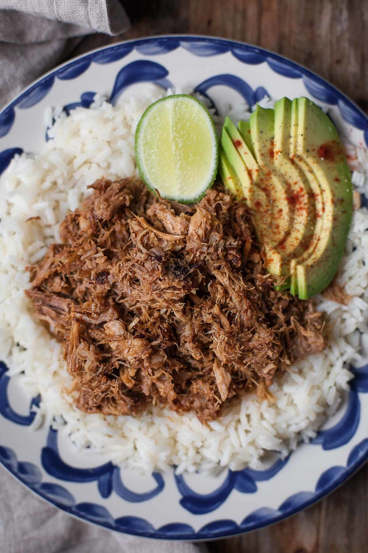 Serve this slow-cooked pork in tacos, burritos, or on a bed of rice with whatever other veggies are in your fridge. Get the recipe.