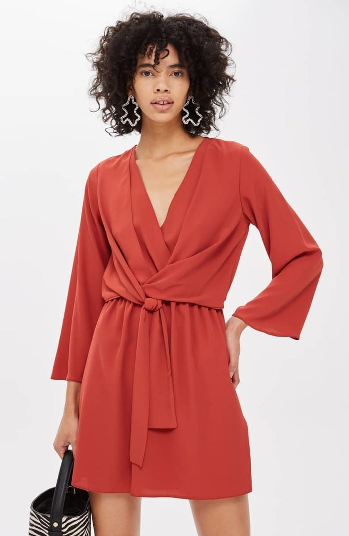 """Promising review: """"So cute, lightweight and easy to wear! I bought one size too big, so I had to return. I should have bought my regular size because it would have fit true to size. The rust color is so pretty for autumn and transitioning seasons."""" —lizzeekGet it from Nordstrom for $68 (available in sizes 0-12 and in red, yellow, and black)."""