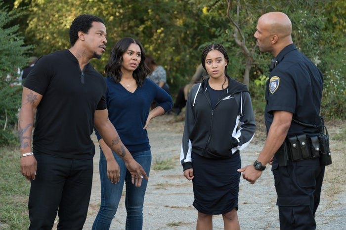 From left: Russell Hornsby, Regina Hall, Amandla Stenberg, and Common.