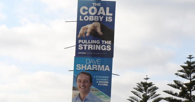 Greenpeace Has Put Up Anti-Liberal Posters In Wentworth Quoting Malcolm Turnbull's Son