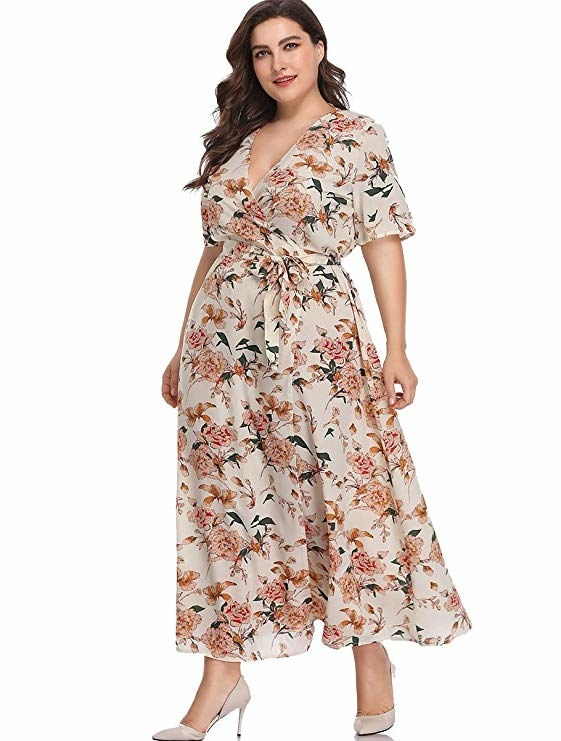 f565aa26f869 A gorgeous flowy maxi you can rock on a sunny vacation, *and* then back at  home during chilly months with a couple layers. Amazon ...