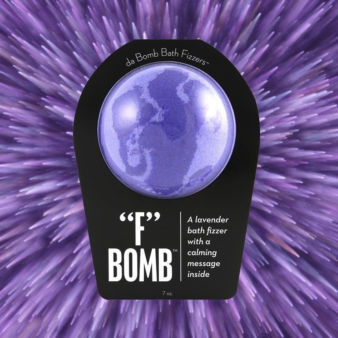 In addition to a soothing lavender scent, this fizzy bomb also comes with a secret message inside.Get it from Amazon for $4.99.