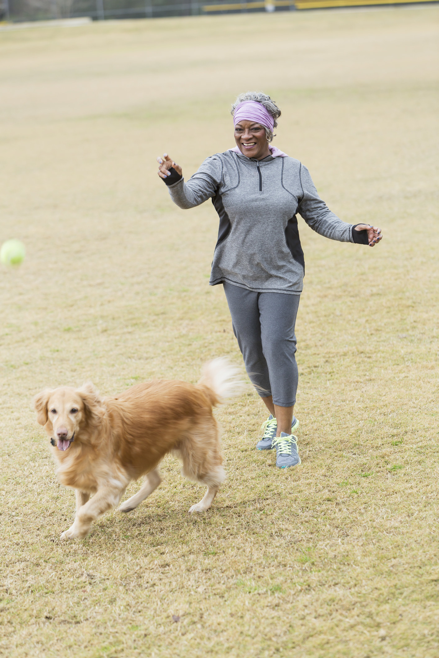 The CDC recommends that adults get at least two hours and 30 minutes of moderate aerobic exercise (like brisk walking) per week, which is more than achievable for most dog owners out there. Being responsible for walking and playing with your dog every day ensures you stay active and hit that weekly goal. As it turns out, that level of activity continues into your 70s and 80s as well — studies show that older adults who walked dogs had lower body mass index and fewer doctor visits.