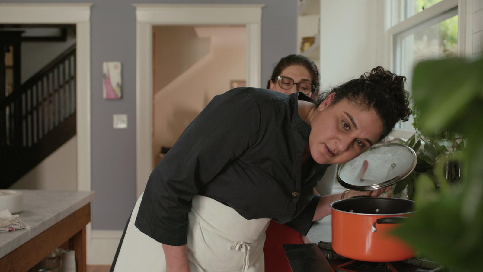 Samin Nosrat and Shahla Simley in Salt Fat Acid Heat.