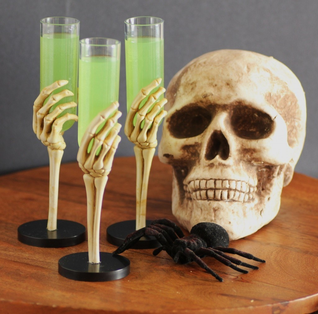 A spooky Halloween cocktail name, a cheeky Facebook event name, and a bowl of this neon green drink is all you need to get a party going. Recipe here.
