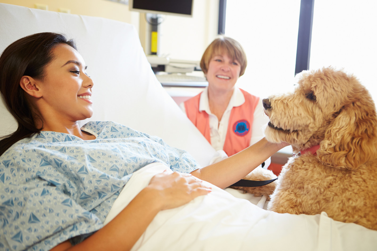 Whether you're managing chronic pain, recovering from surgery, or receiving physical therapy, pets are proven pain management assistants. After observing patients receiving animal-assisted therapy during hospital stays and after physical therapy, researchers concluded that patients perceived lower pain levels and greater satisfaction with their recovery. Further studies found that therapy dog visits during outpatient treatment for chronic pain patients led to a substantial reduction in pain and emotional distress. TBH, what can't pets do?