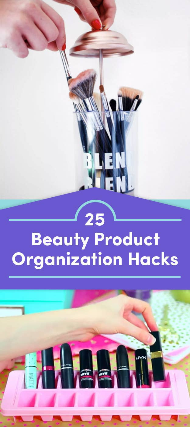 """""""Stick your brushes in a straw canister if you like to keep them covered, but visible.""""—Emily ShwakeCheck out 25 Beauty Product Organizing Tips That'll Make You Say """"Why Haven't I Tried That?!"""" for more."""
