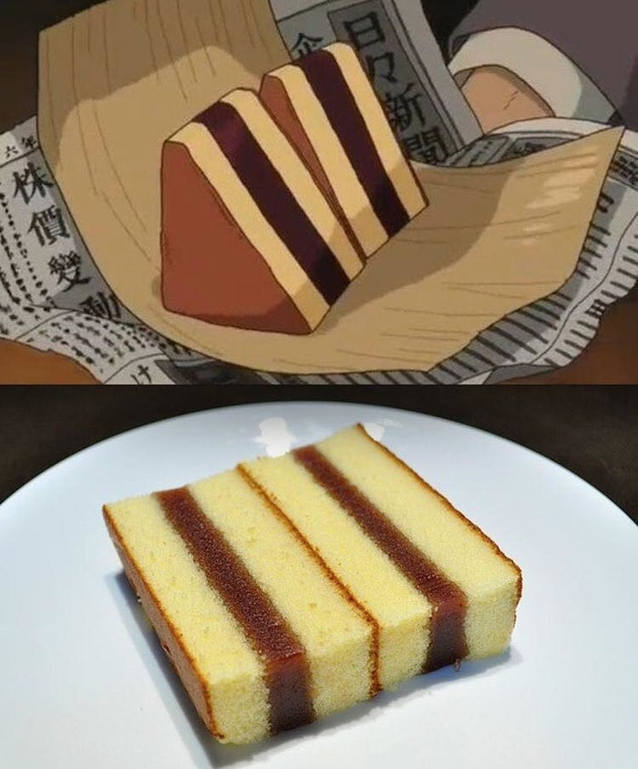 The traditional Japanese honey cake is also known as a castella cake.