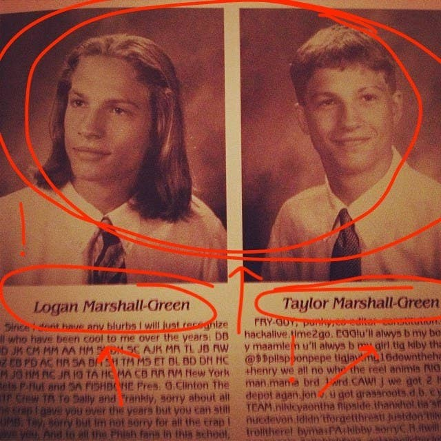2d75677bbfd And for some reason, the younger Taylor Marshall Green looks more like the  current Logan Marshall Green than the past Logan Marshall Green looks.
