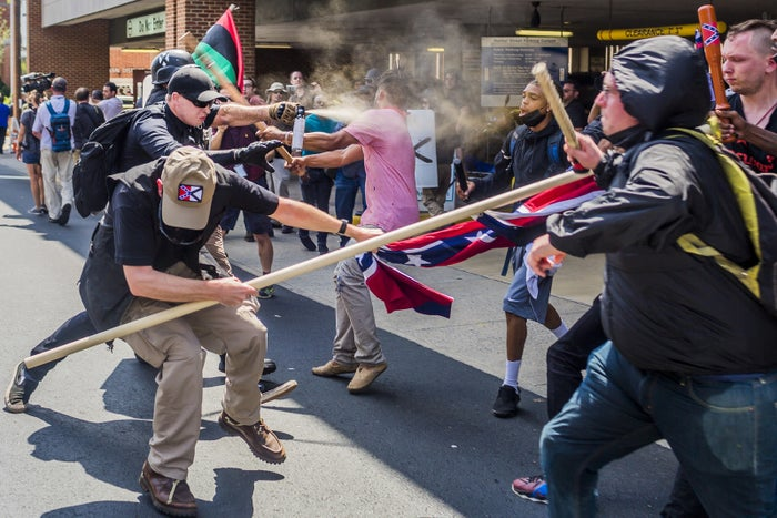 White supremacist groups clashed with hundreds of counterprotesters during the Unite the Right rally in Charlottesville, Virginia, in August 2017.