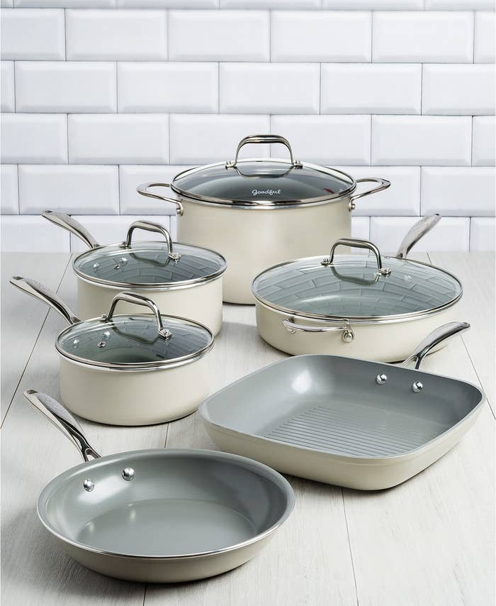 Despite living on my own for nine long years, I've never actually owned a decent set of cookware. Somehow, I've always moved from apartment to apartment with boxes of over-used pans procured from my mom's garage, various old housemates, and friends who were moving out of town and needed someone to offload their shit onto. Until recently, I saw absolutely no issue in this. (What am I? A professional chef?!) But I have officially seen the light — and it has a perfect matte cream finish.