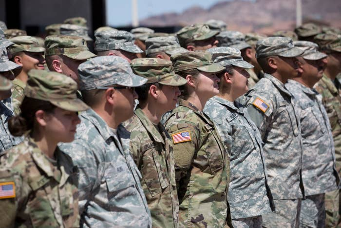 The Arizona National Guard waiting to deploy last spring.