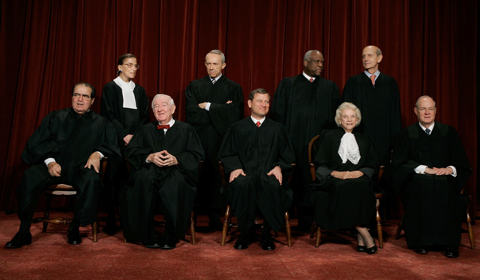O'Connor with the other justices in 2005.