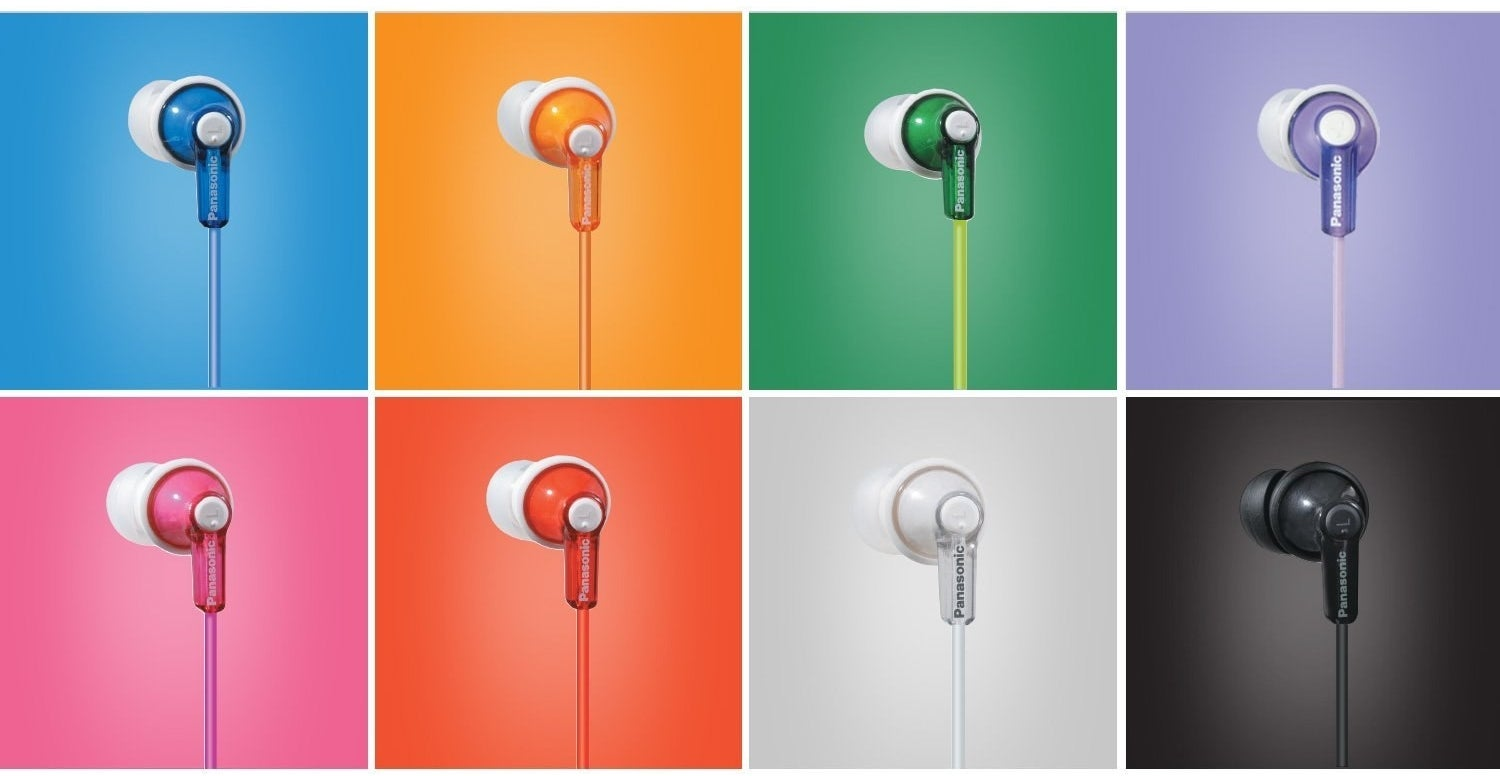 """I have a blue pair of these and can confirm they're comfortable, last a long time, and don't sound tinny at all.Promising review: """"I am at work, next to the window, and there is a LITERAL JACKHAMMER outside the window. I have these headphones in, listening to music, and I can't hear it at all. If you want that in your life, these are the earbuds for you."""" —megalloGet them from Amazon for $8.94 (available in eight colors)."""