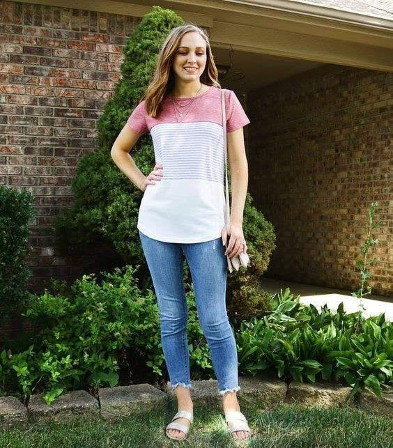 fb2e445de 26. A mixed pattern tee that'll fit into the