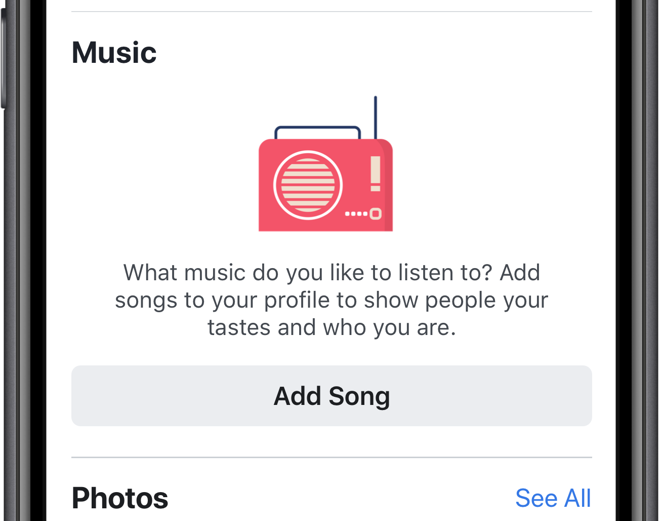 You can also pick a favorite song to pin to the top of your profile.