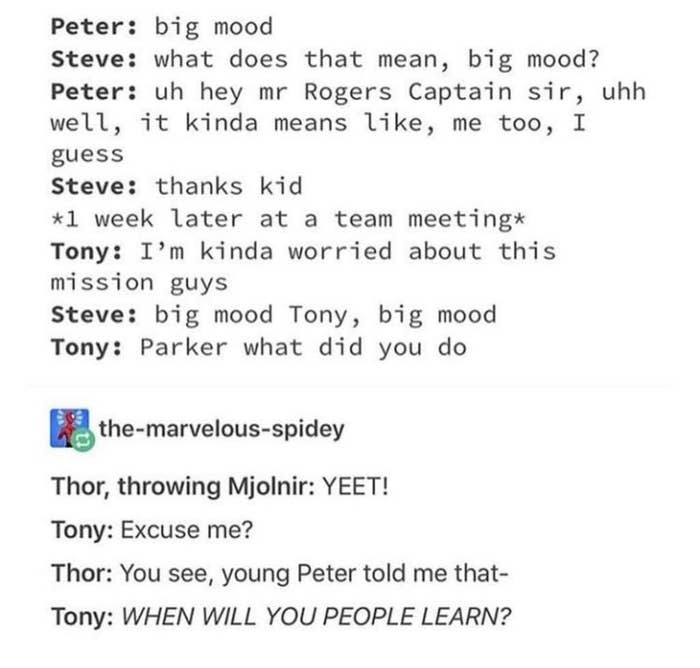 17 Tumblr Posts That Prove Spider-Man Is Definitely A Gen Z Kid