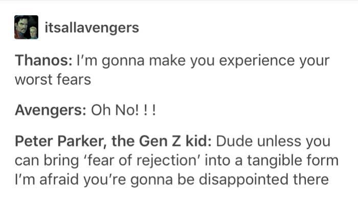 17 Tumblr Posts That Prove Spider-Man Is Definitely A Gen Z Kid