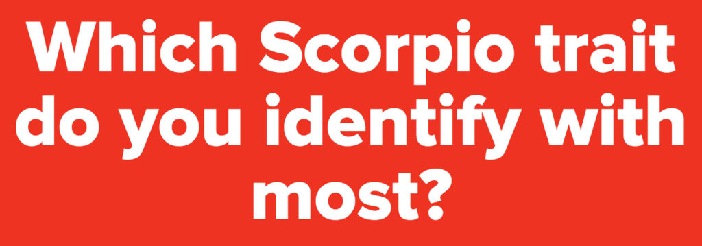 What % Scorpio Are You?