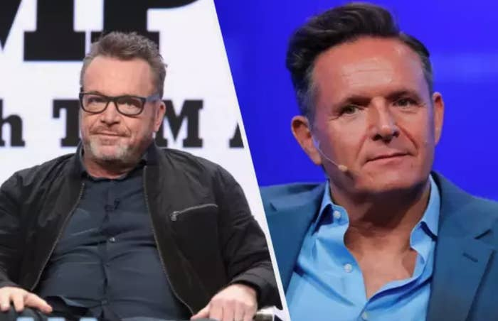 Tom Arnold (left) and Mark Burnett.