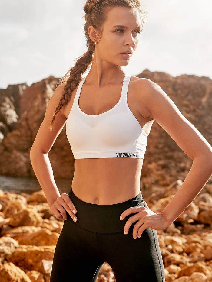 f334f6c6629ef A lightweight sports bra that s super supportive and made with a material  that keeps you feeling airy even when you re drenched in sweat after a  workout.