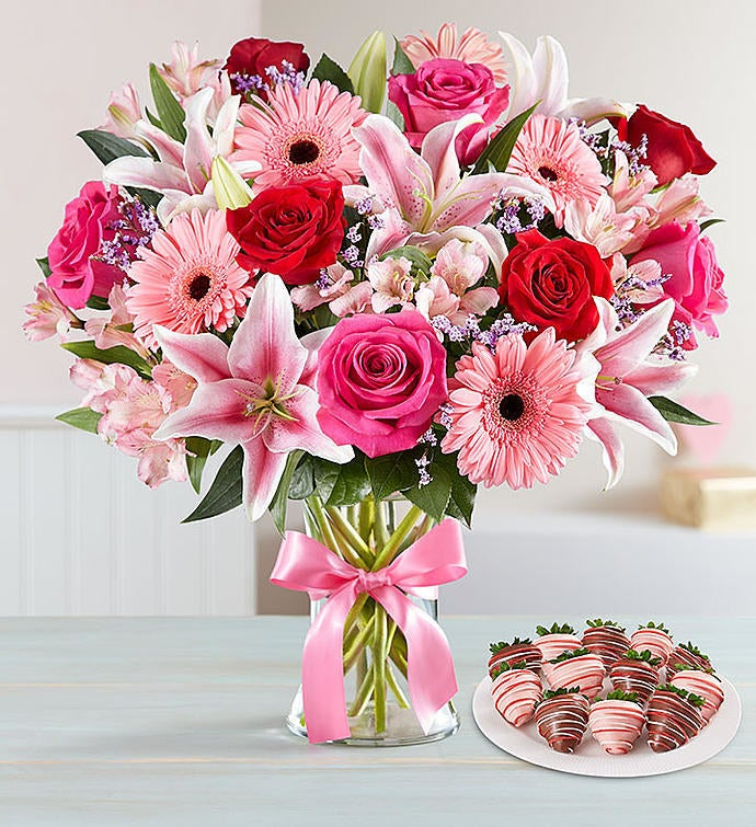Price: $24.99+Types of plants: Fruit Bouquets mostly offers bouquets of fruit and chocolate-covered strawberries, however they have a few floral bouquets as wellGet this bouquet starting at $79.99 (includes a dozen chocolate-dipped strawberries) or shop the entire same-day delivery collection.
