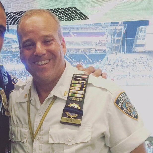 Lt. Paul Gaglio at Yankee Stadium.