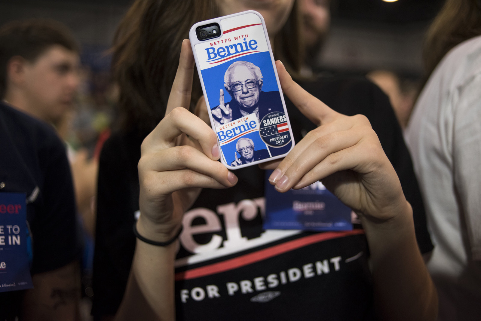 A Sanders-themed phone in 2016.