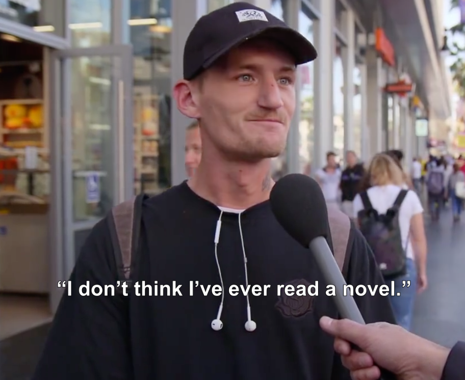 Jimmy Kimmel Asked People On The Street To Name Their Favorite Novel And Apparently People Don't Read