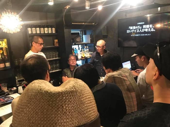 語り合う小倉東さん(左)、北丸雄二さん(真ん中)、永易至文さん(右)