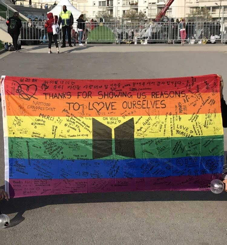 Here's The Heartwarming Tale Behind The LGBT Pride Flag At A