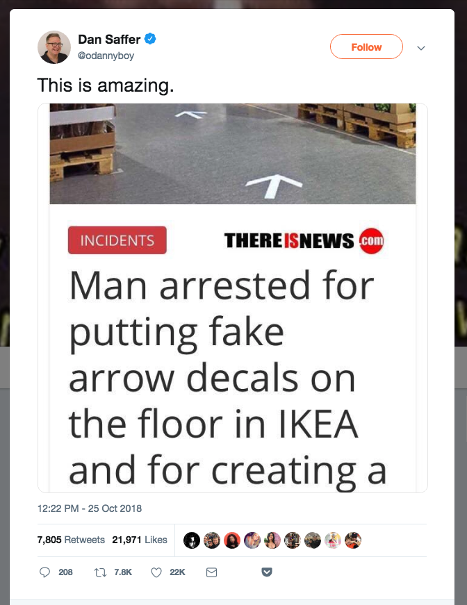 A Fake Story About Ikea Went Viral On Twitter After A Twitter Employee Shared It