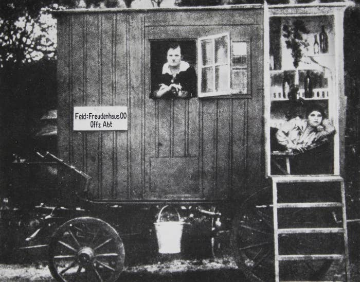 World War I: Mobile brothel for troops close to the front.