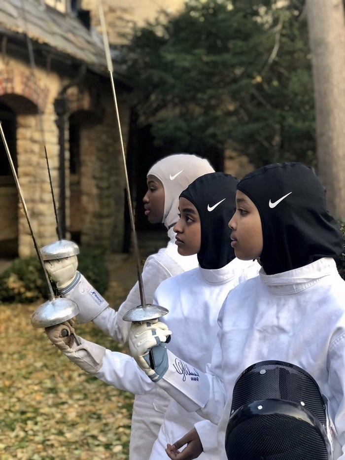 "She said: ""We go to a small school that had only one sport. That sport was for boys. There were no sports for women.""The Nike hijabs the girls are wearing were launched in December 2017 and were developed with Muslim athletes."