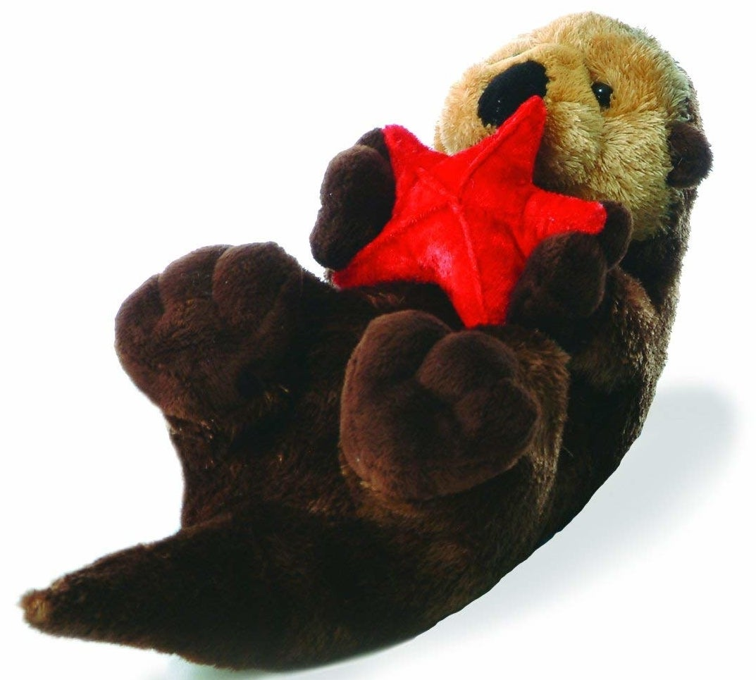 """Promising review: """"Absolutely adorable! The otter is so soft. I couldn't ask for a better stuffed animal. It has strong stitching and would hold up well under normal wear and tear for a child."""" —Belinda S.Price: $10.20"""