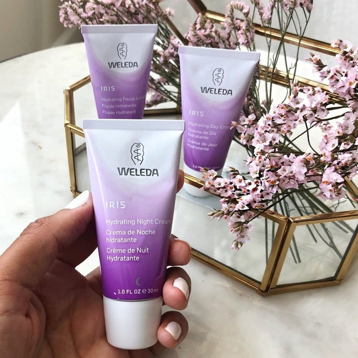 """This delicious, delectable night cream is ideal for normal-to-dry skin! Promising review: """"I can't say enough about how fantastic this cream is and how hooked I am! I love many Weleda products, but this is my all-time favorite! The tube is very small, but it goes a long because you only need a little bit. Plus, the cream itself is free of petroleums and other junk that you don't want on your skin."""" —EkatGet it from Amazon for $13.96."""