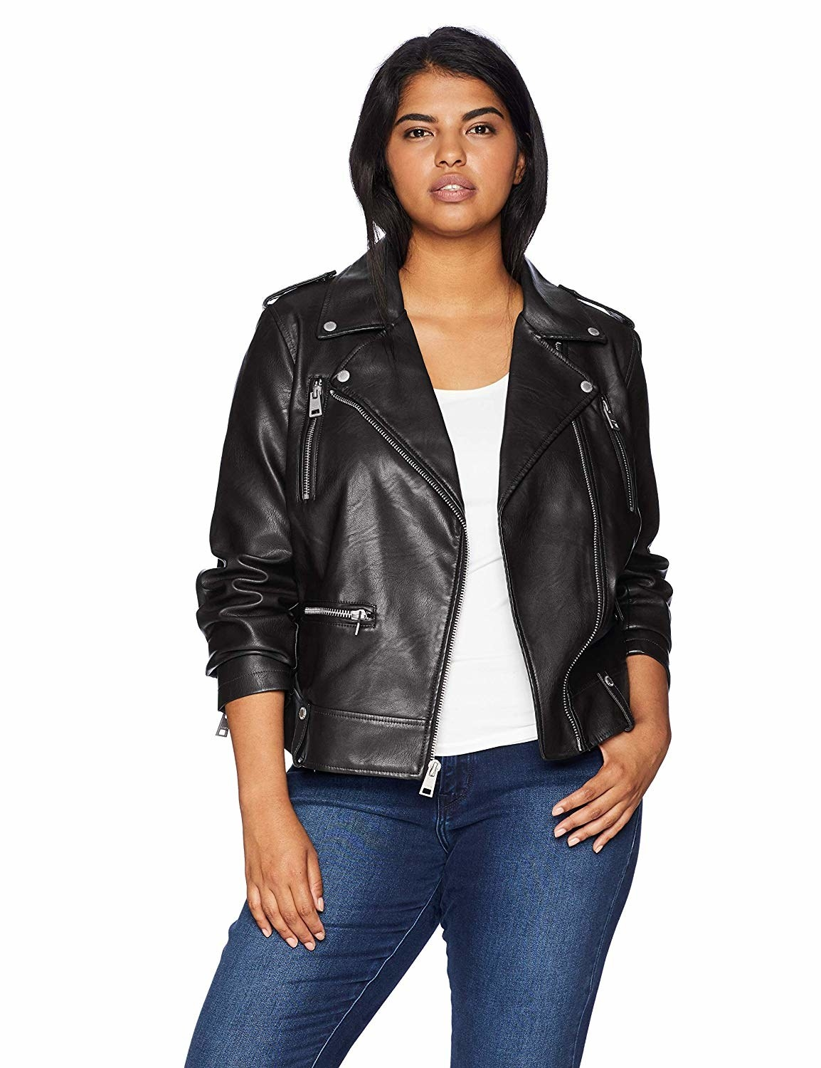 531216929 A Levi's moto jacket to add just the right dose of classic cool to your  closet — if you don't have a faux leather jacket in your collection, ...