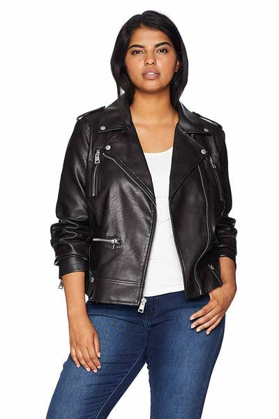 e0285eedc84 A Levi s moto jacket to add just the right dose of classic cool to your  closet — if you don t have a faux leather jacket in your collection