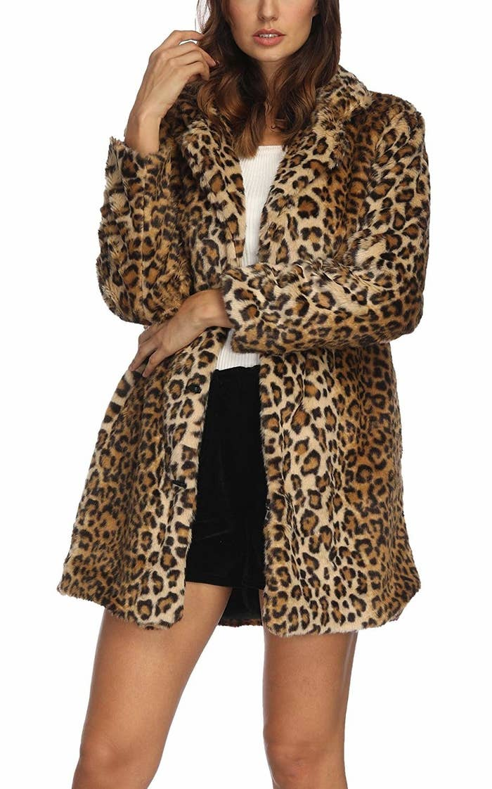f2e83fbd06579 A faux fur leopard coat so you can make the most out of the best trends of  2018 — without *spending* the most.