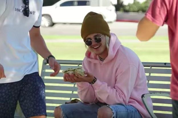 justin bieber eating burrito