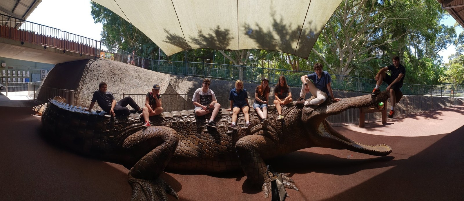 """It was a hot day, and Sarah had fun. """"We saw all the animals, pet a koala and kangaroos, held a blue tongue and hung out""""."""